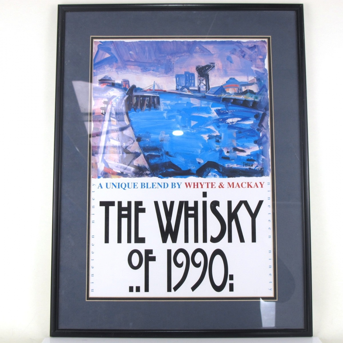 Whyte and Mackay The Whisky of 1990 Framed Poster