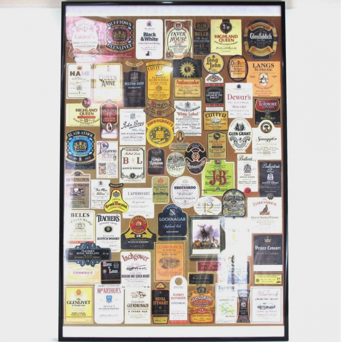 Whisky Labels of the 1980s Framed Poster