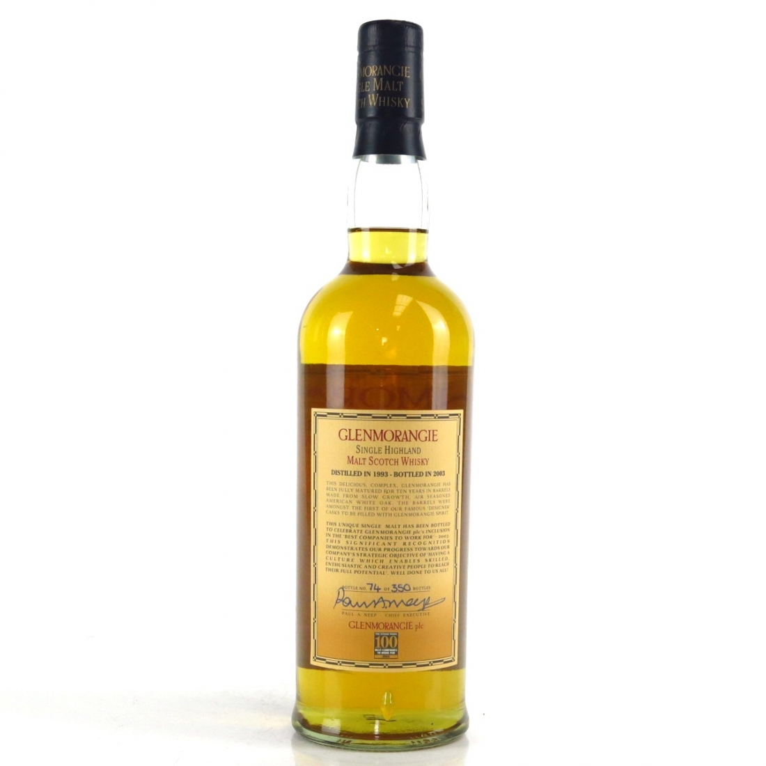 Glenmorangie 1993 Cask Strength 10 Year Old / 100 Best UK Companies To Work For