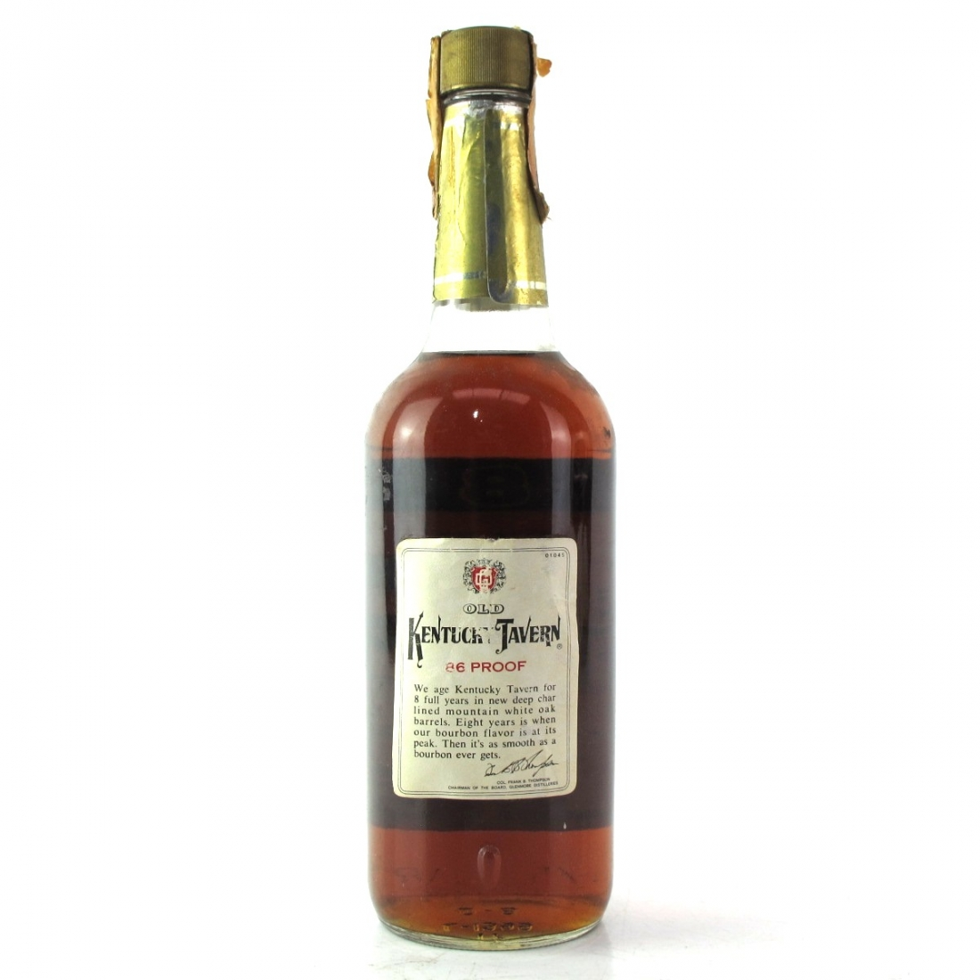 Kentucky Tavern 8 Year Old Straight Bourbon 1970s