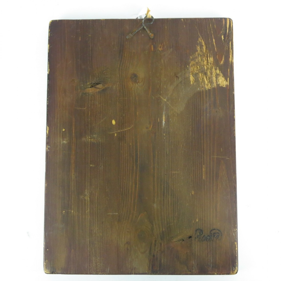 Antique Wood Painting by F. Conz