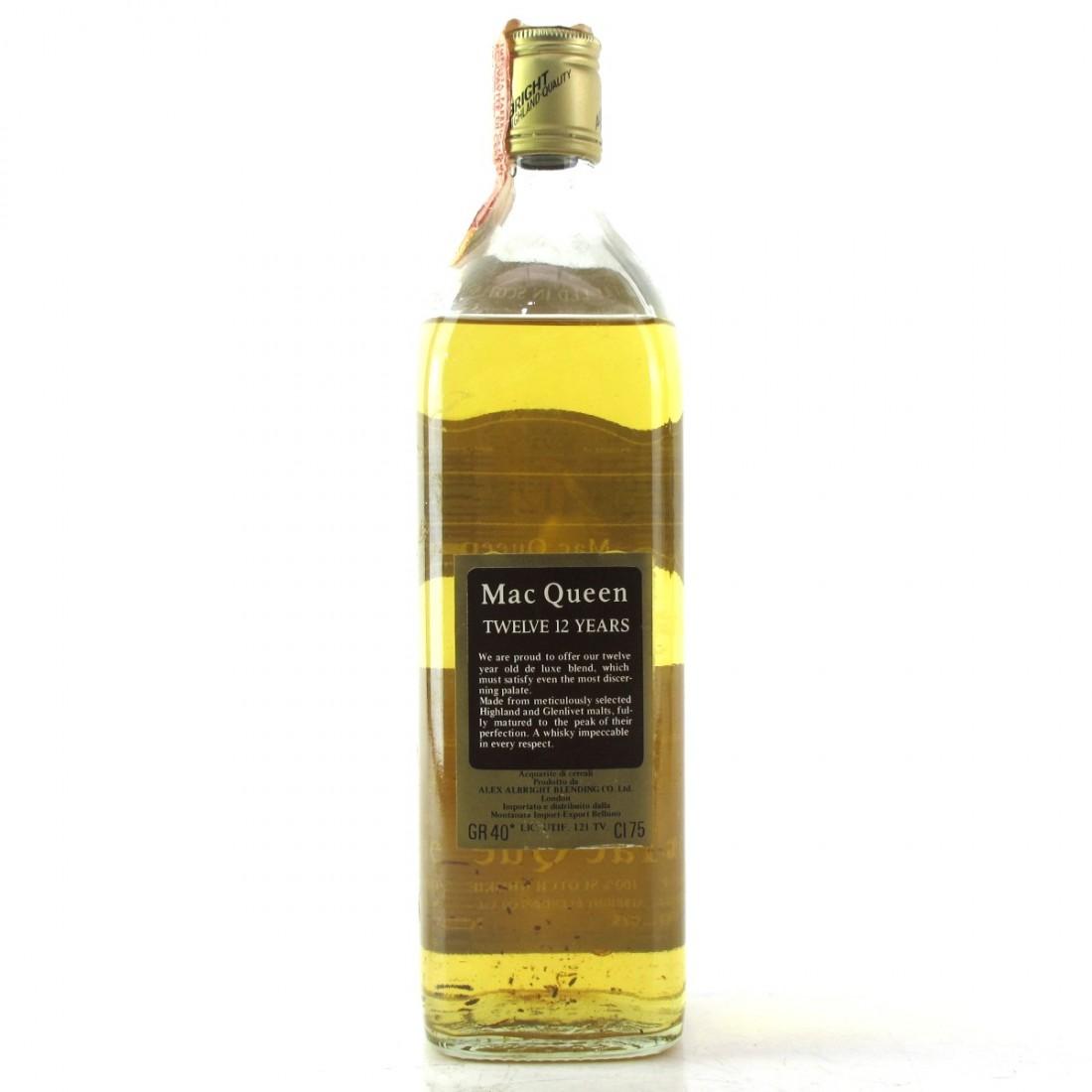 Mac Queen 12 Year Old Scotch 1970s