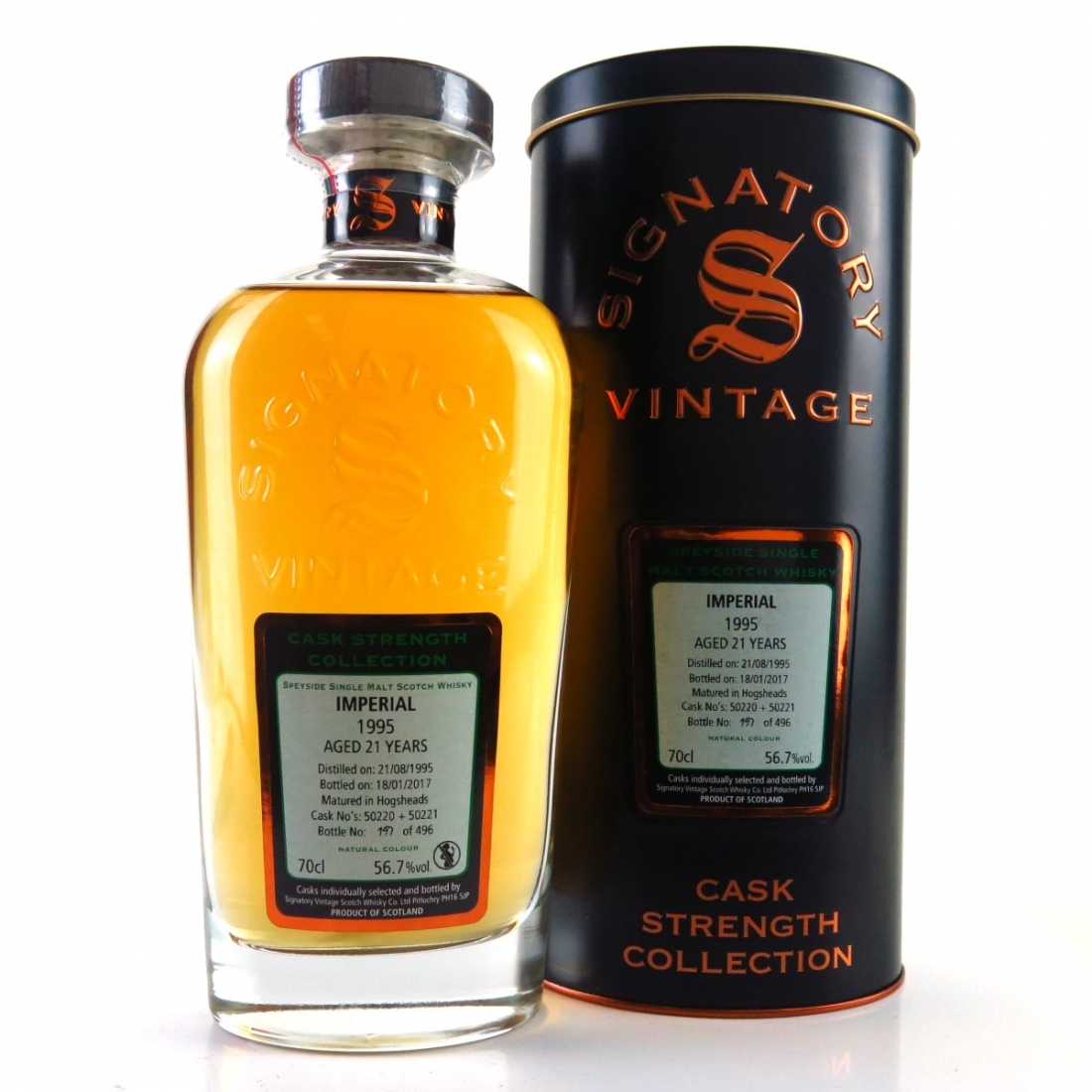 Imperial 1995 Signatory Vintage 21 Year Old Cask Strength