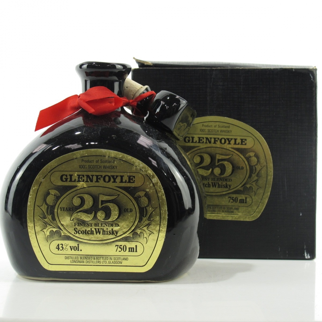 Glenfoyle 25 Year Old Decanter 1980s