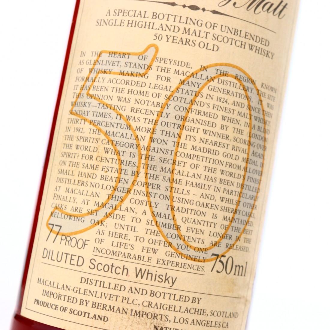 *Macallan 1928 Anniversary Malt 50 Year Old / Berman Import, US