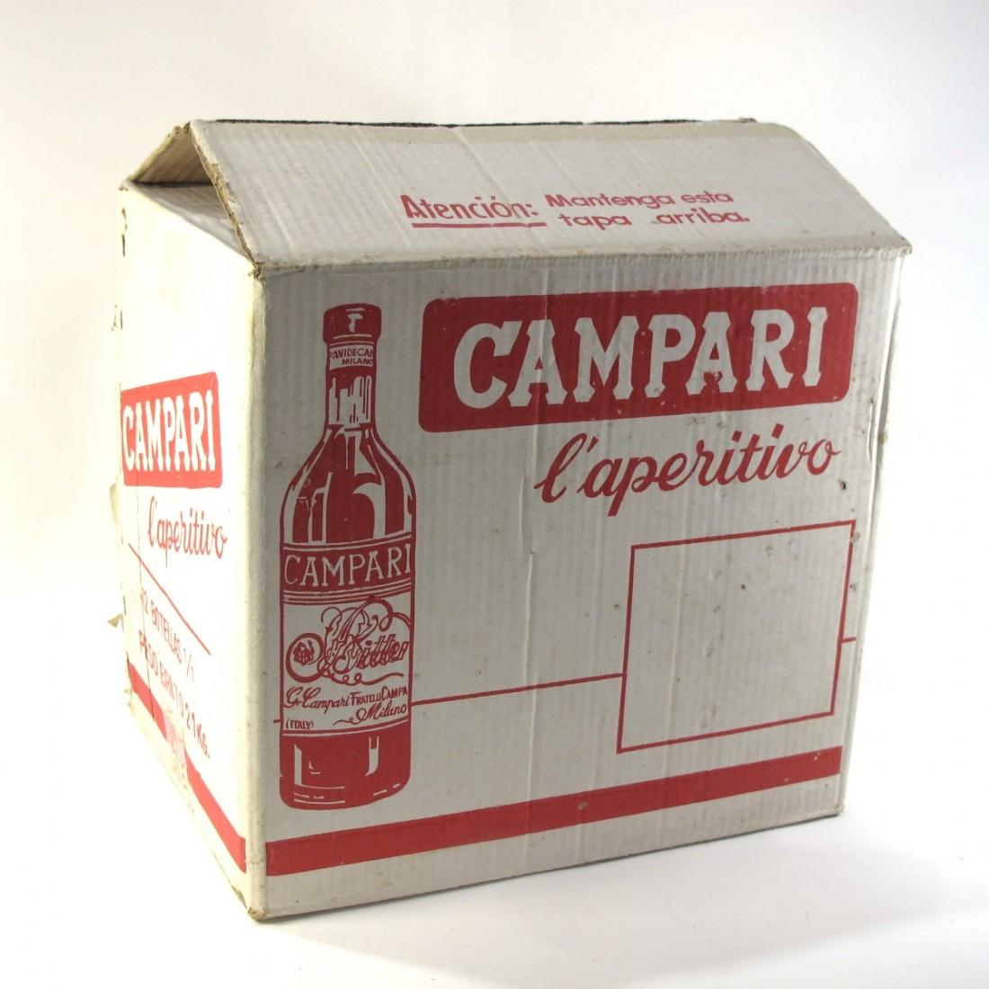 Campari Bitter 12 x 1 Litre 1970s / Case