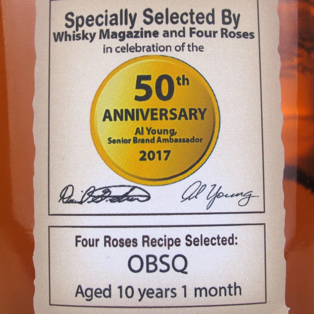 Four Roses Single Barrel / Al Young 50th Anniversary