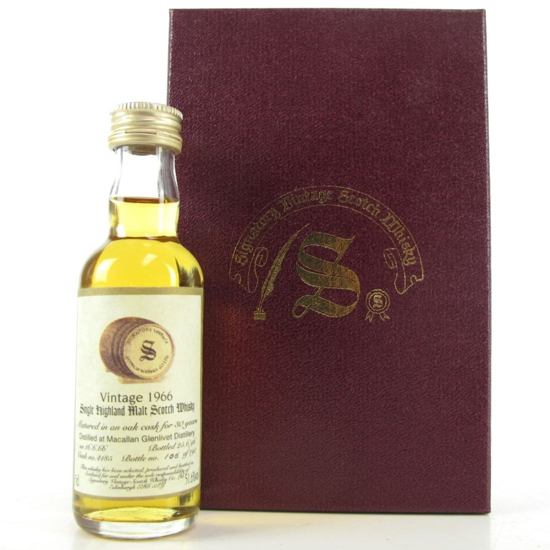 Macallan 1966 Signatory Vintage 30 Year Old Miniature 5cl