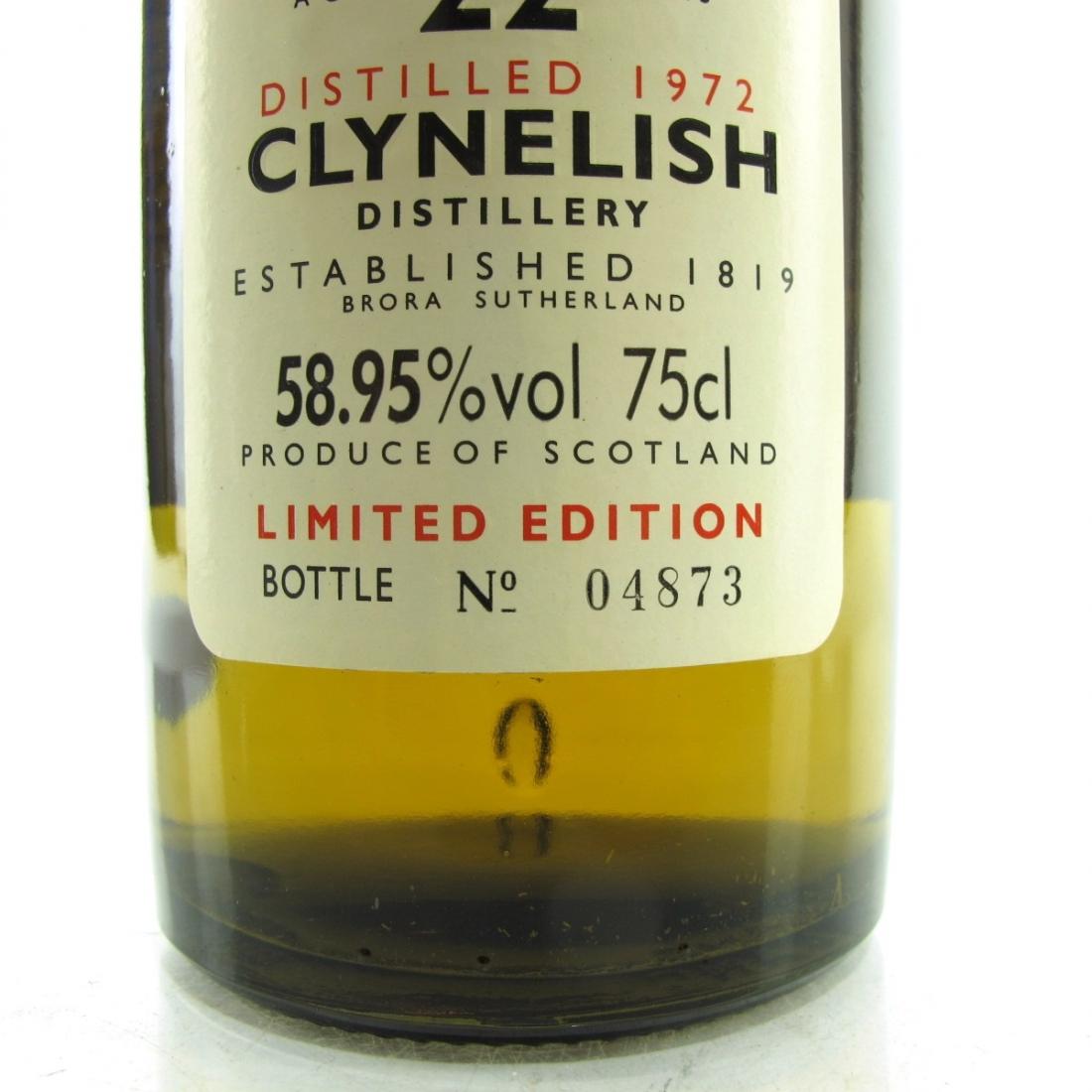 Clynelish 1972 Rare Malt 22 Year Old 75cl / 58.95%