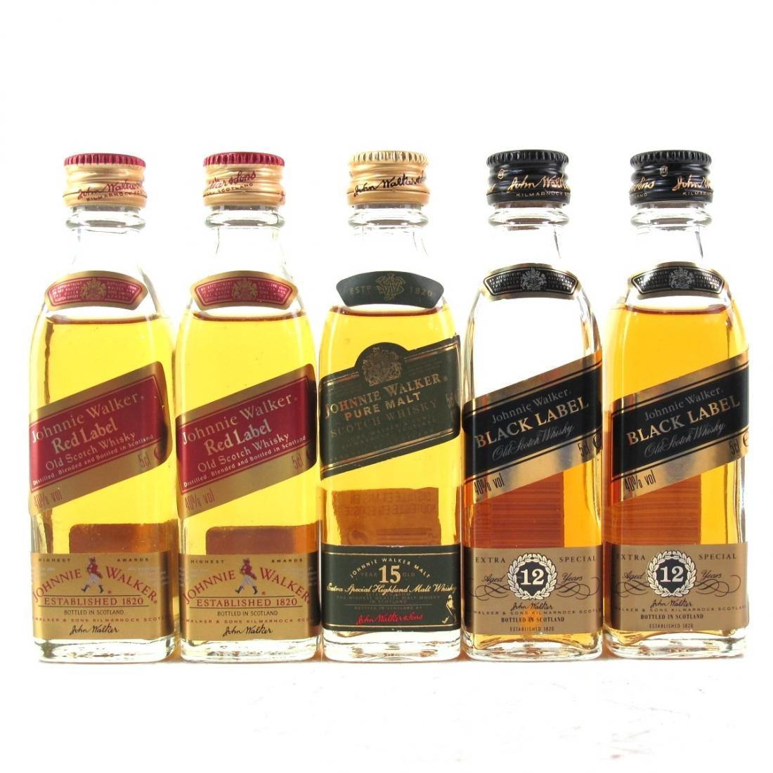 Miscellaneous Johnnie Walker Miniature Selection 5 x 5cl