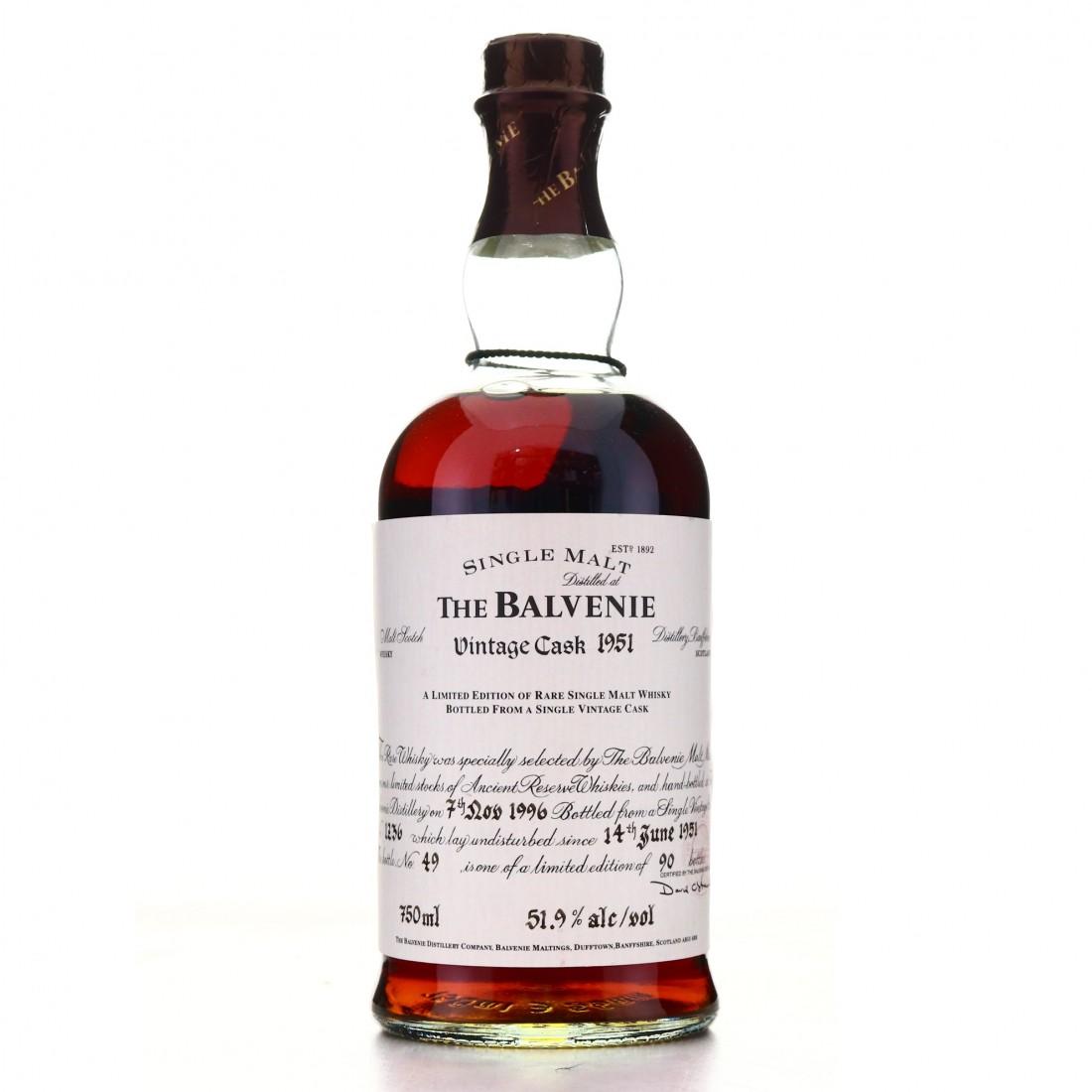 *Balvenie 1951 Vintage Cask #1236 75cl / US Import