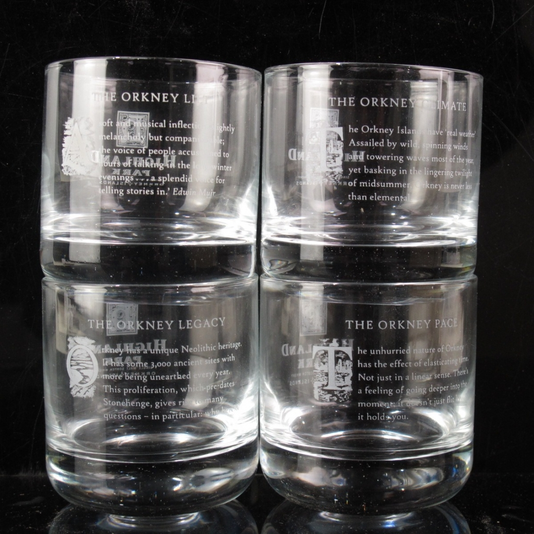 Highland Park Glasses x 4