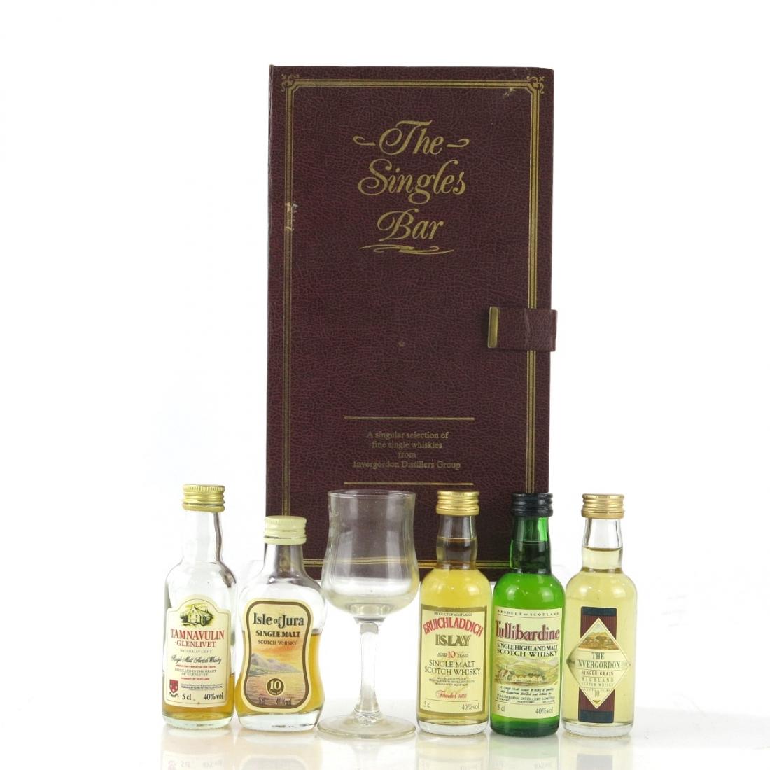 The Singles Bar Miniatures 5 x 5cl / Invergordon Distillers