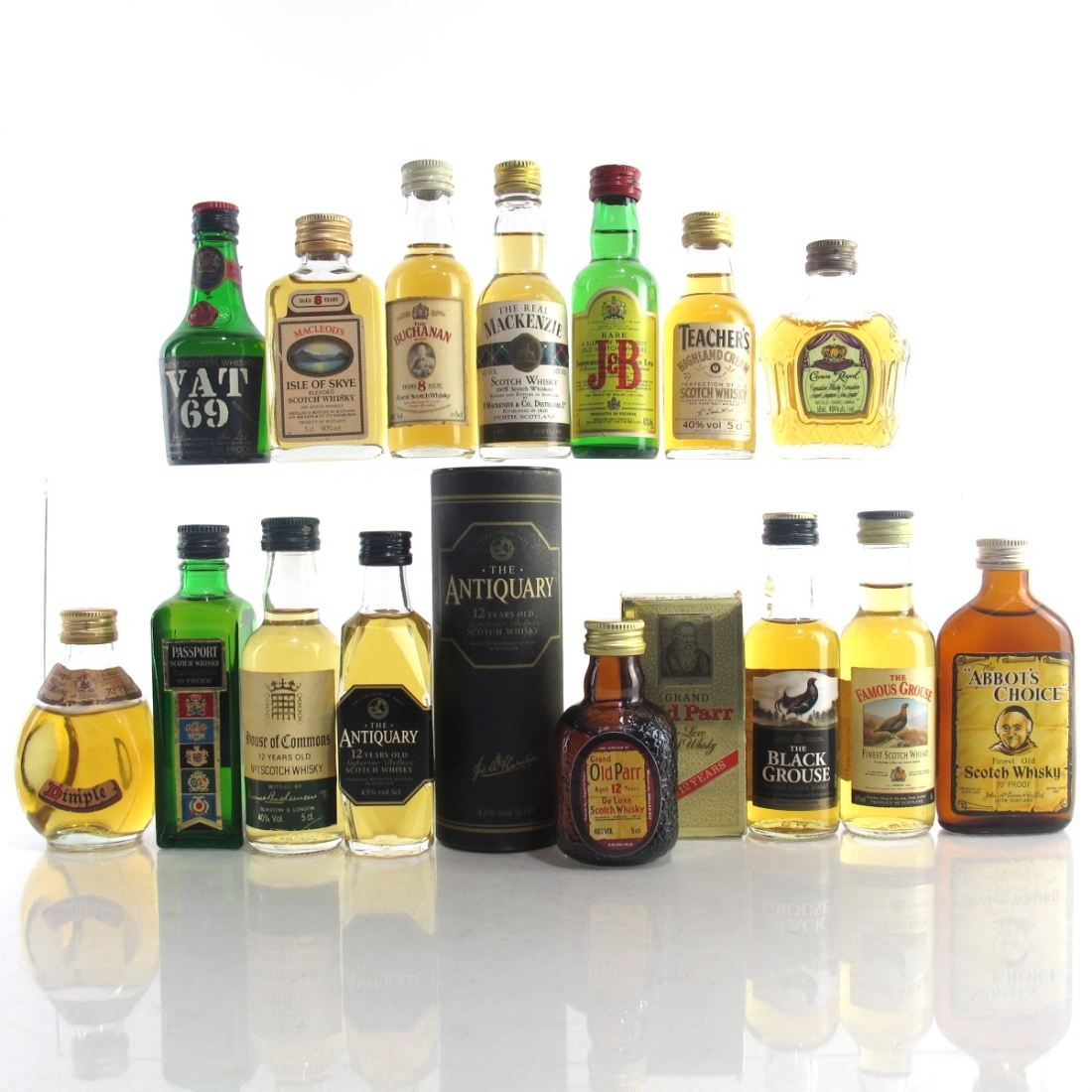 Blended Scotch Whisky Miniature Selection x 15