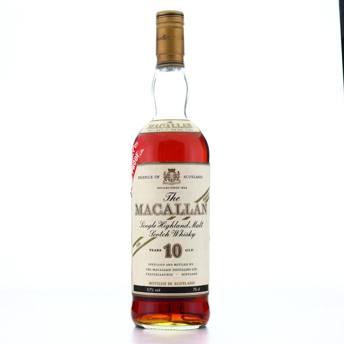 *Macallan 10 Year Old 100 Proof 1980s