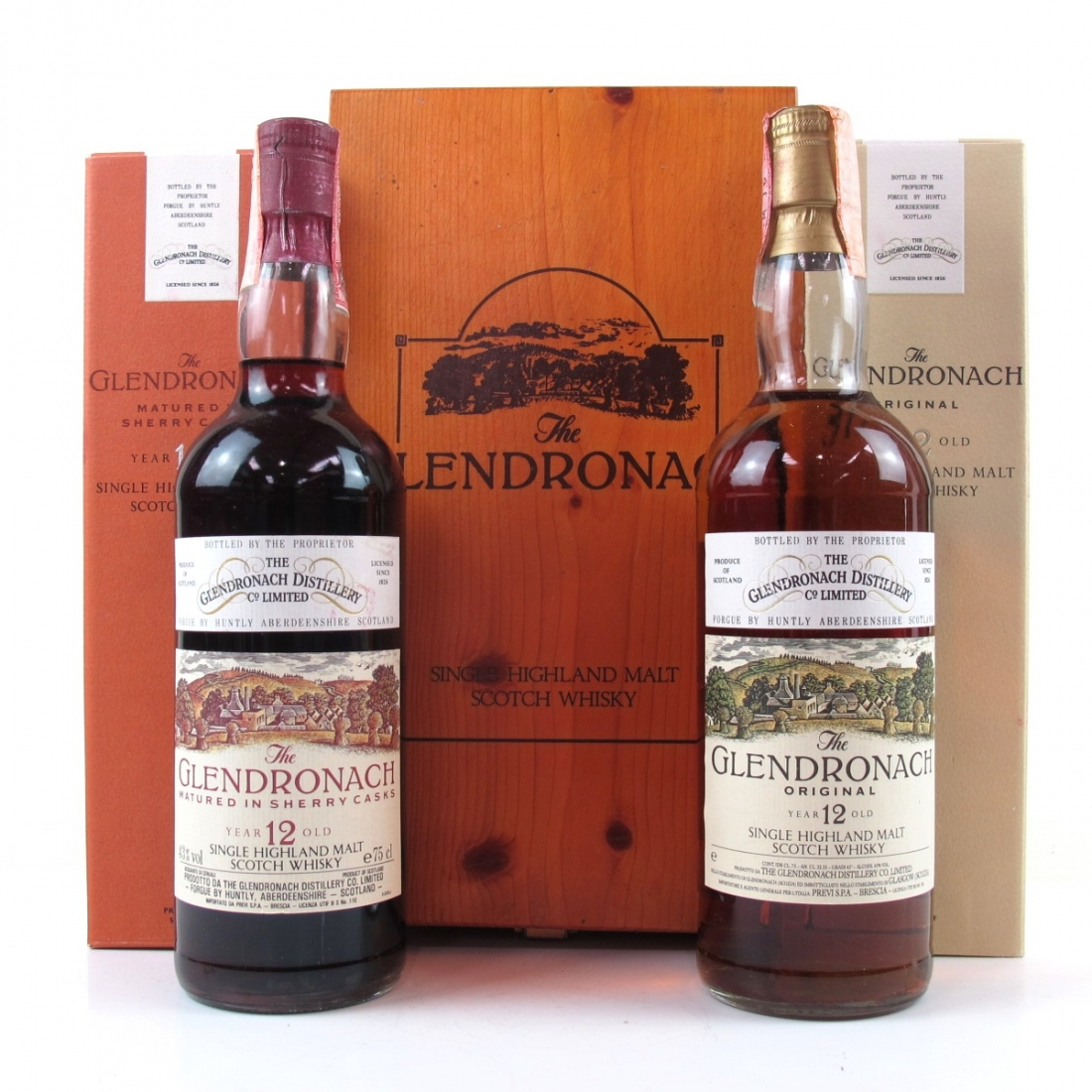 Glendronach 12 Year Old 1980s Original and Sherry Casks 2 x 75cl