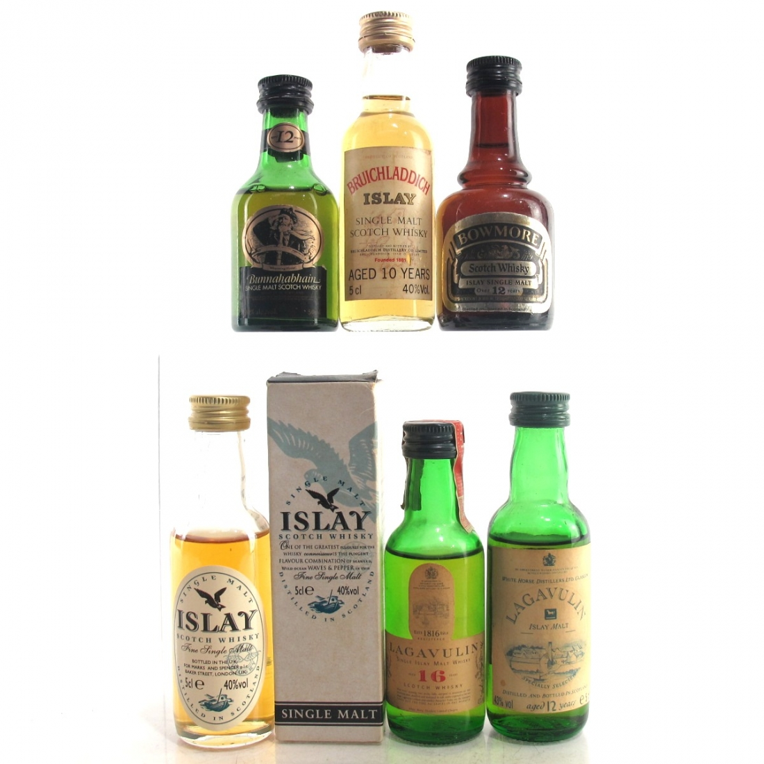 Islay Miniature Selection 5 x 5cl / includes Lagavulin White Horse