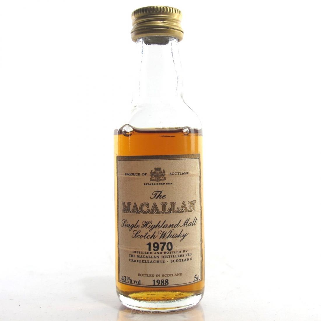Macallan 1970 18 Year Old Miniature 5cl