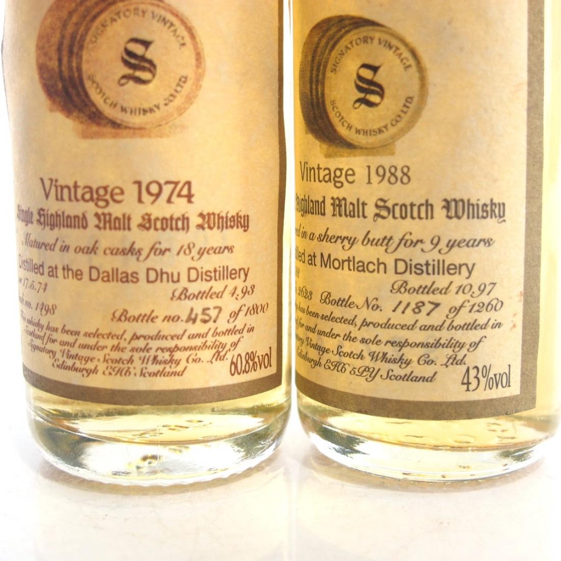 Dallas Dhu & Mortlach Signatory Vintage Miniatures 2 x 5cl