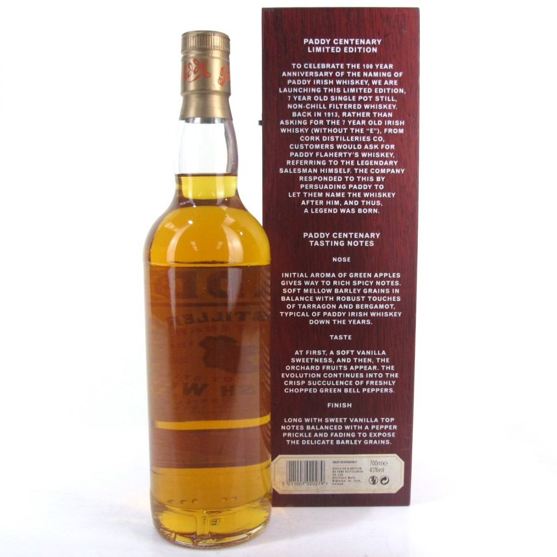 Paddy 7 Year Old Centenary Limited Edition