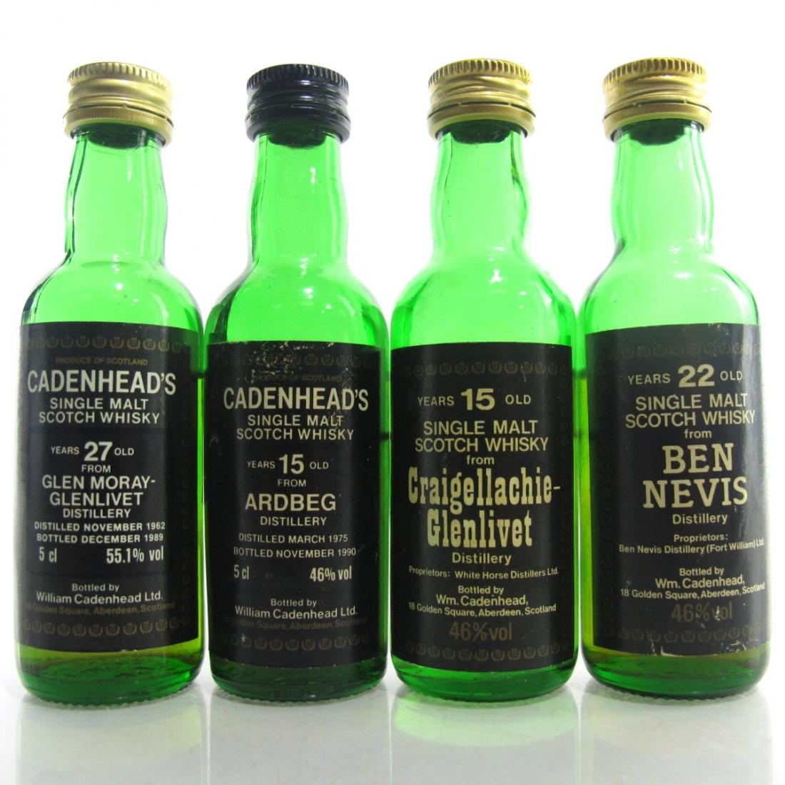 Cadenhead's Miniature Selection x 4 1980s / includes Ardbeg 1975