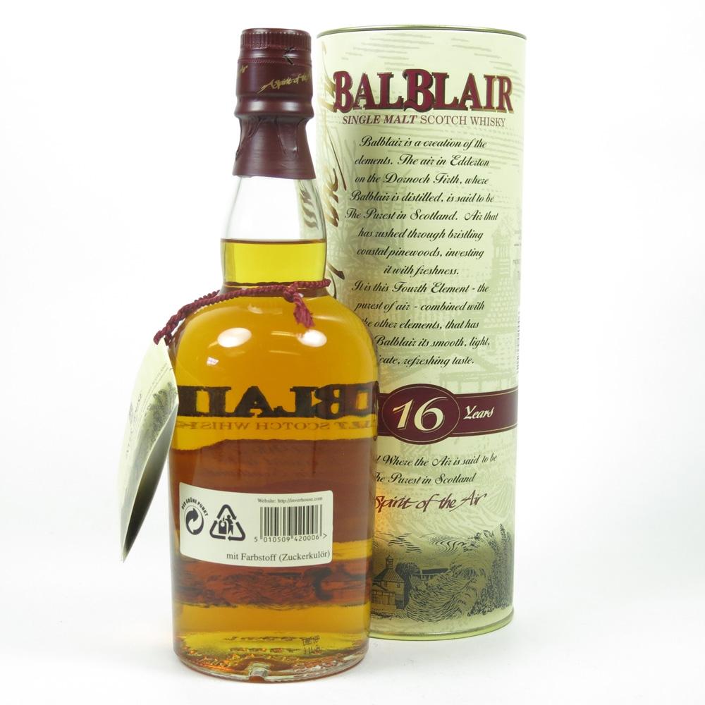 Balblair 16 Year Old Back