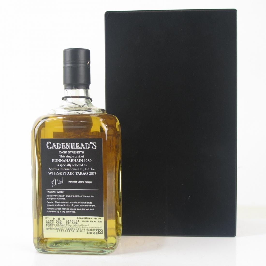 Bunnahabhain 1989 Cadenhead's 27 Year Old / Whiskyfair Takao 2017