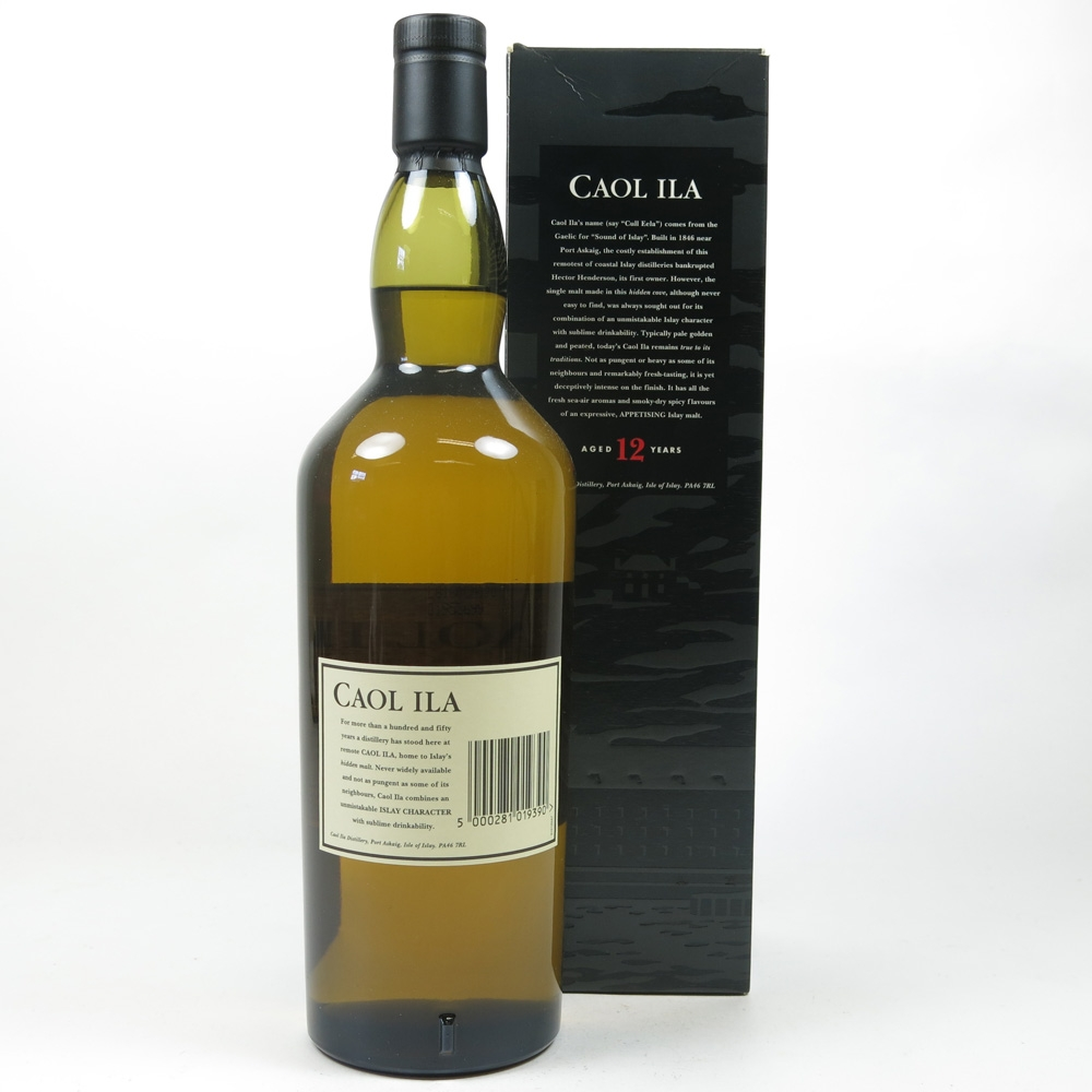 Caol Ila 12 Year Old 1 Litre Back