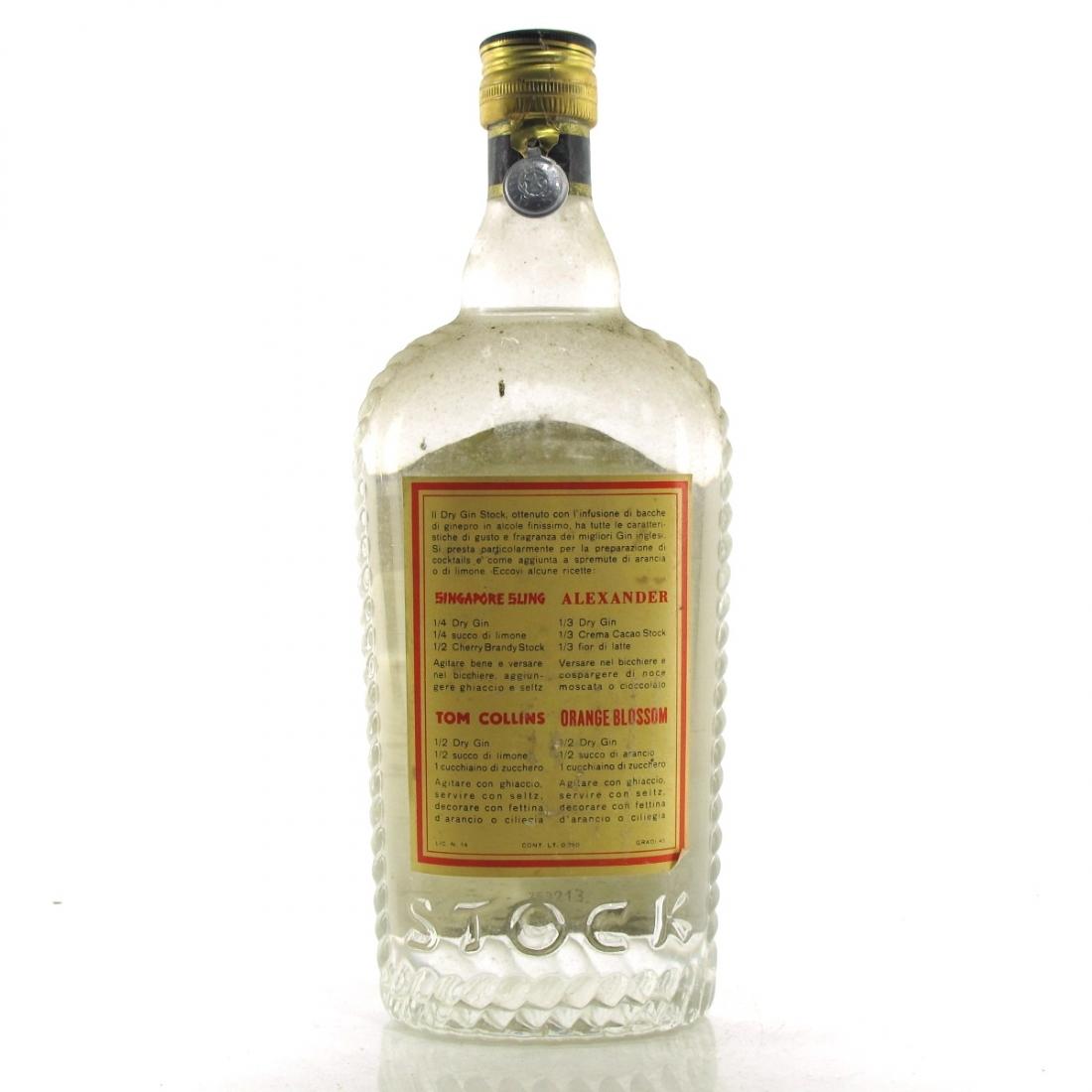 Stock Dry Gin 1950s