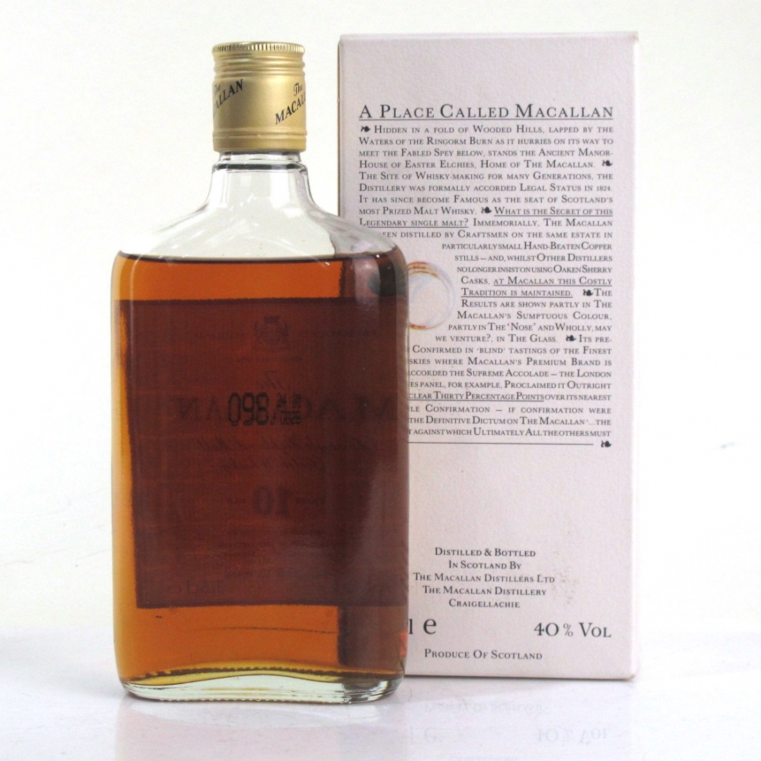 Macallan 10 Year Old 37.5cl 1980s