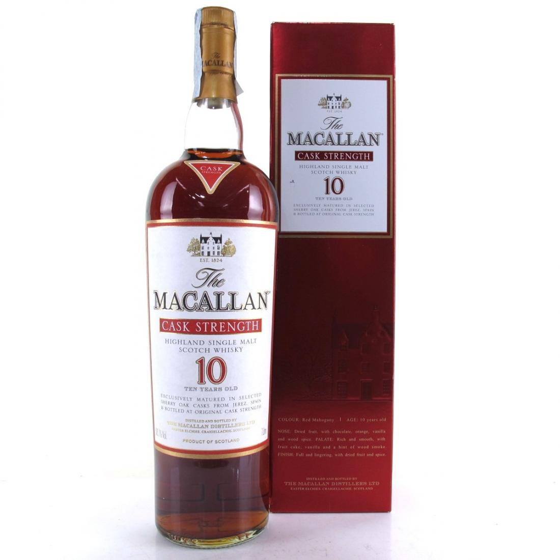Macallan 10 Year Old Cask Strength 1 Litre