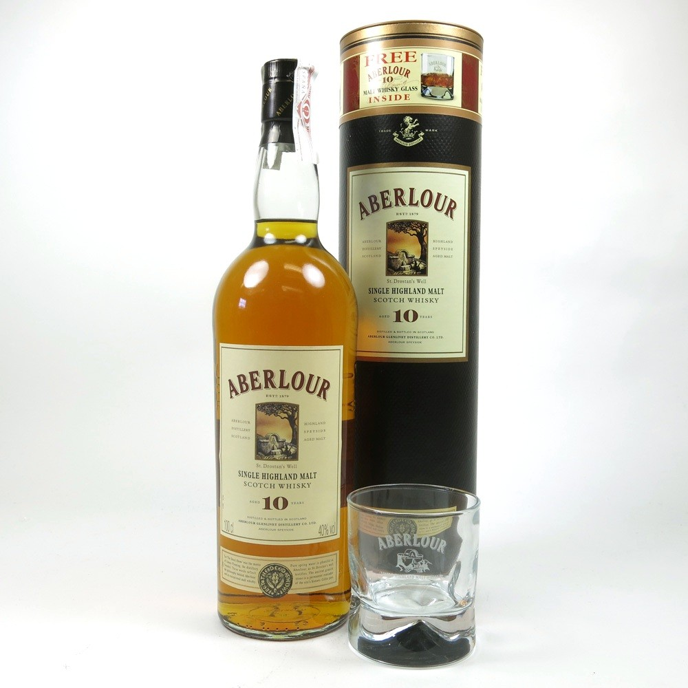 Aberlour 10 Year Old 1 Litre and Glass