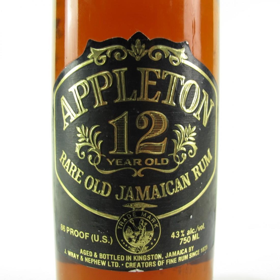 Appleton 12 Year Old Jamaica Rum 1980s