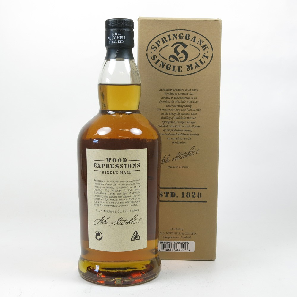 Springbank 9 Year Old Marsala wood