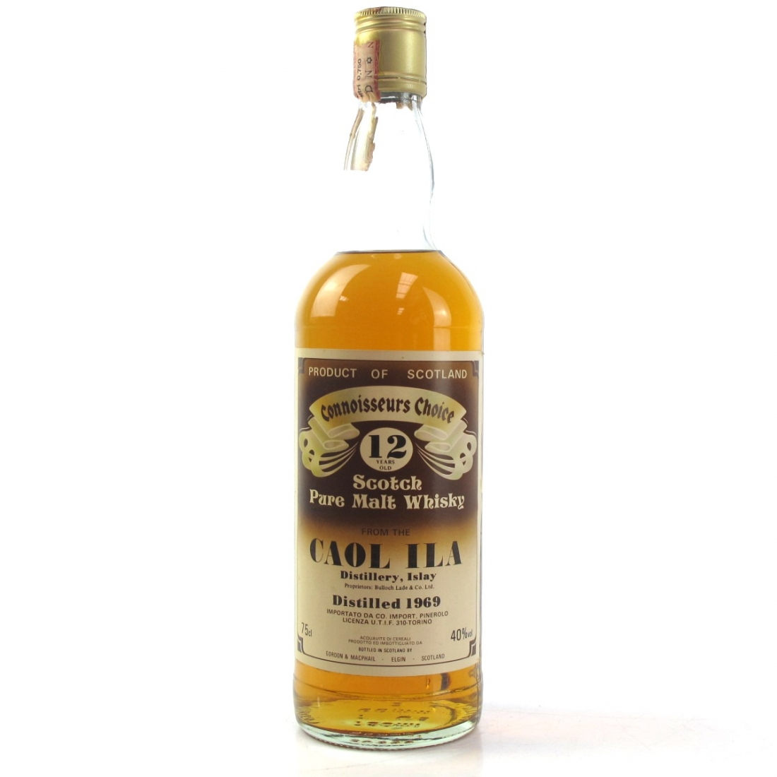 Caol Ila 1969 Gordon and MacPhail 12 Year Old / Pinerolo Imports