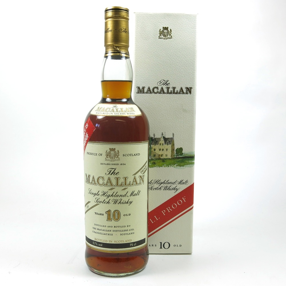 Macallan 10 Year Old Full Proof 1980s Front