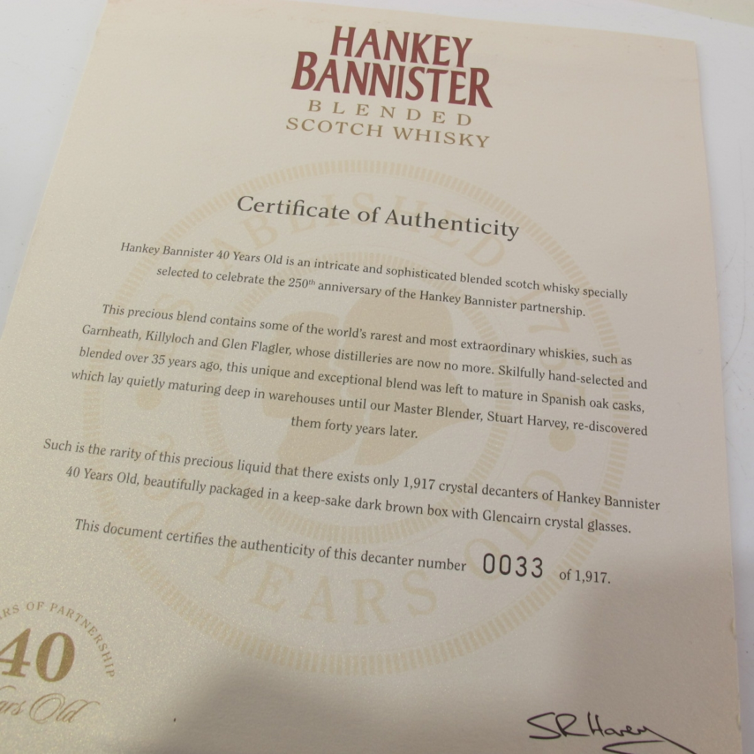Hankey Bannister 40 Year Old