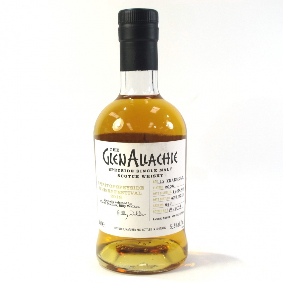 Glenallachie 2006 Single Cask 12 Year Old 50cl / Spirit of Speyside 2018 - Signed