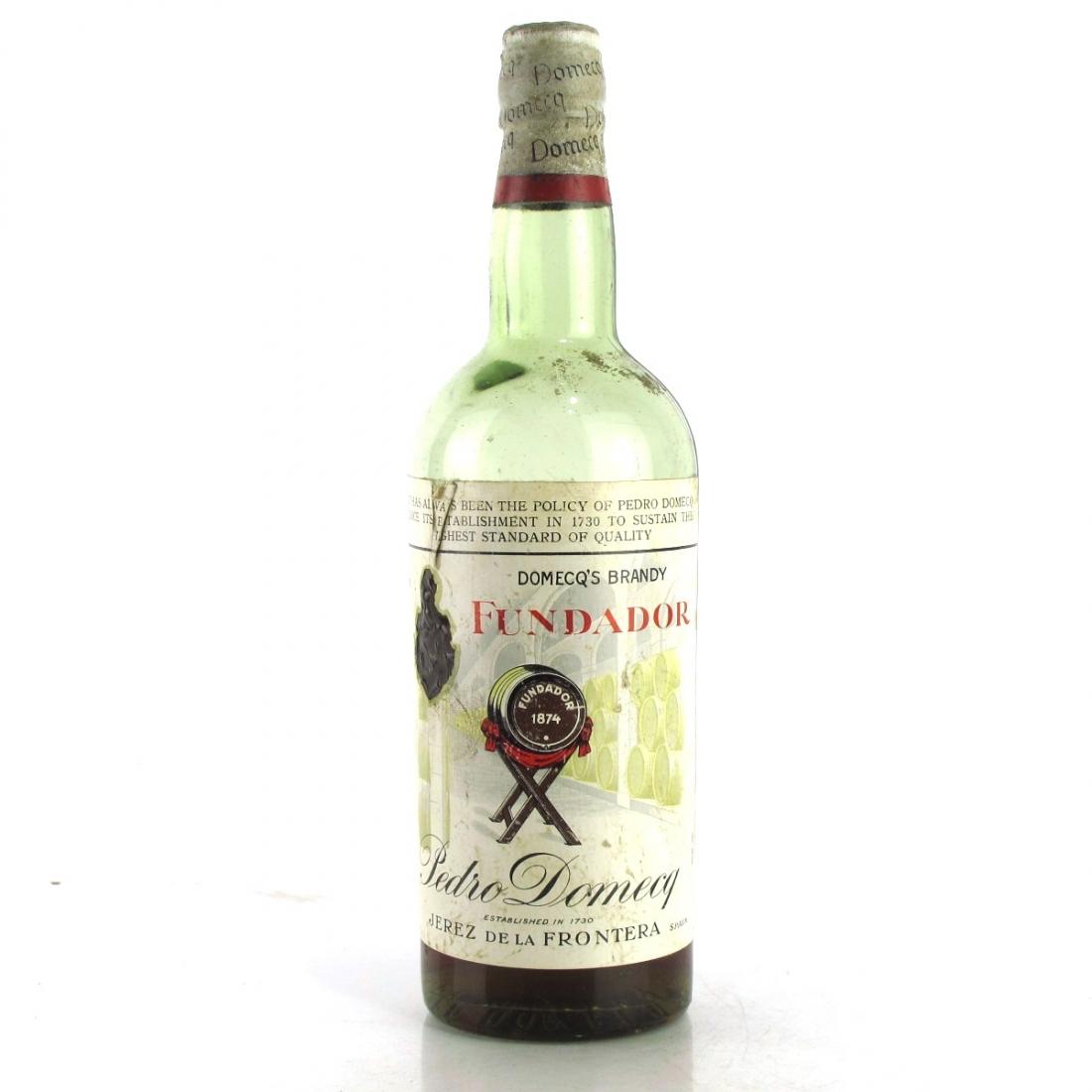 Fundador Pedro Domecq Brandy 1960s