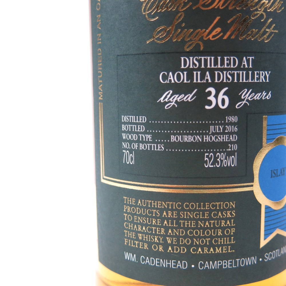 Caol Ila 1980 Cadenhead's 36 Year Old