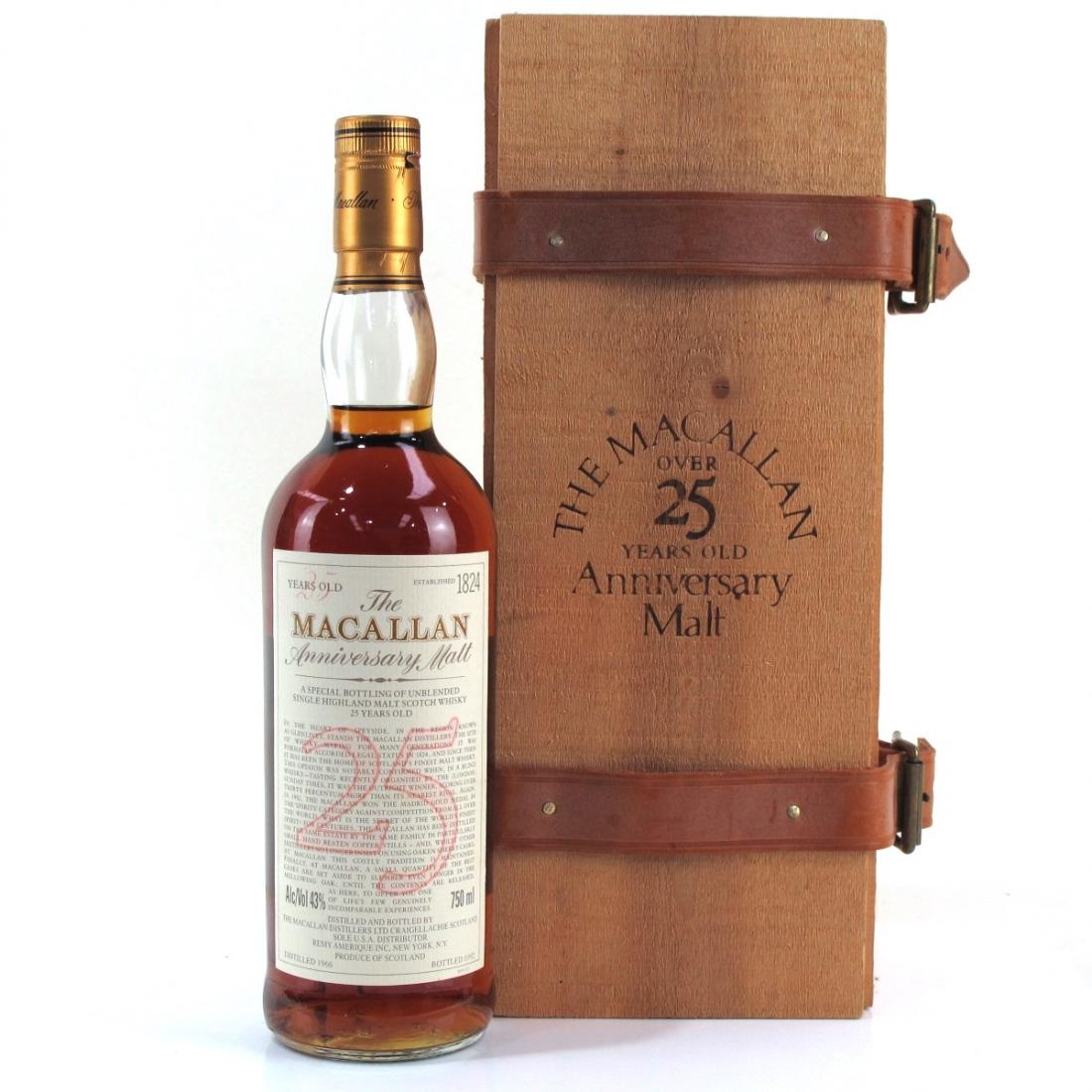 Macallan 1966 Anniversary Malt 25 Year Old 75cl / US Import