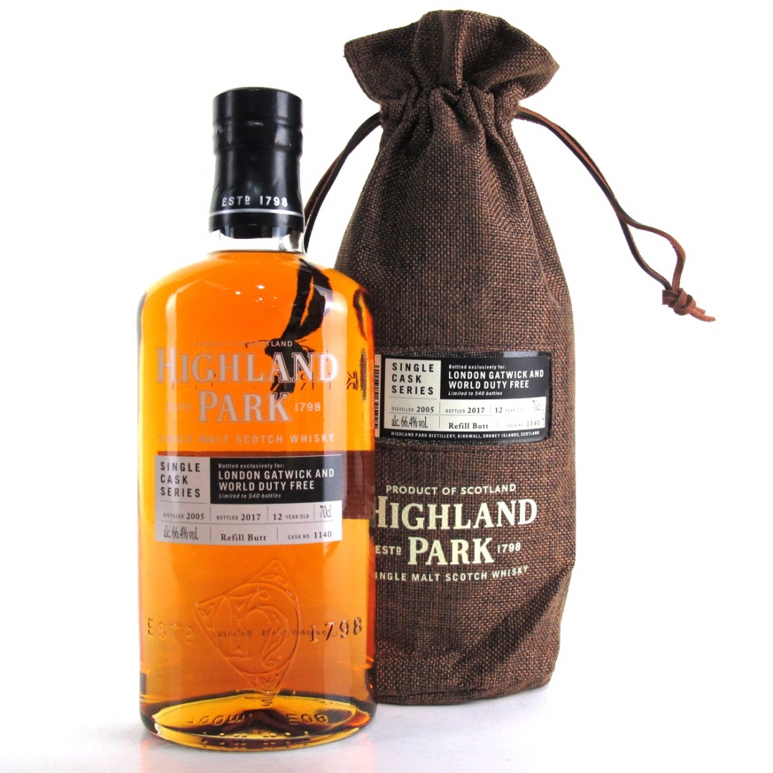 Highland Park 2005 Single Cask 12 Year Old #1140 / London Gatwick and World Duty Free