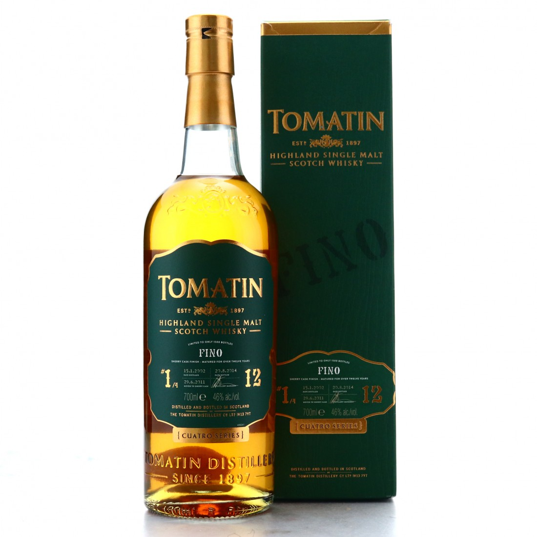 Tomatin 2002 Fino Finish 12 Year Old Cuatro #1