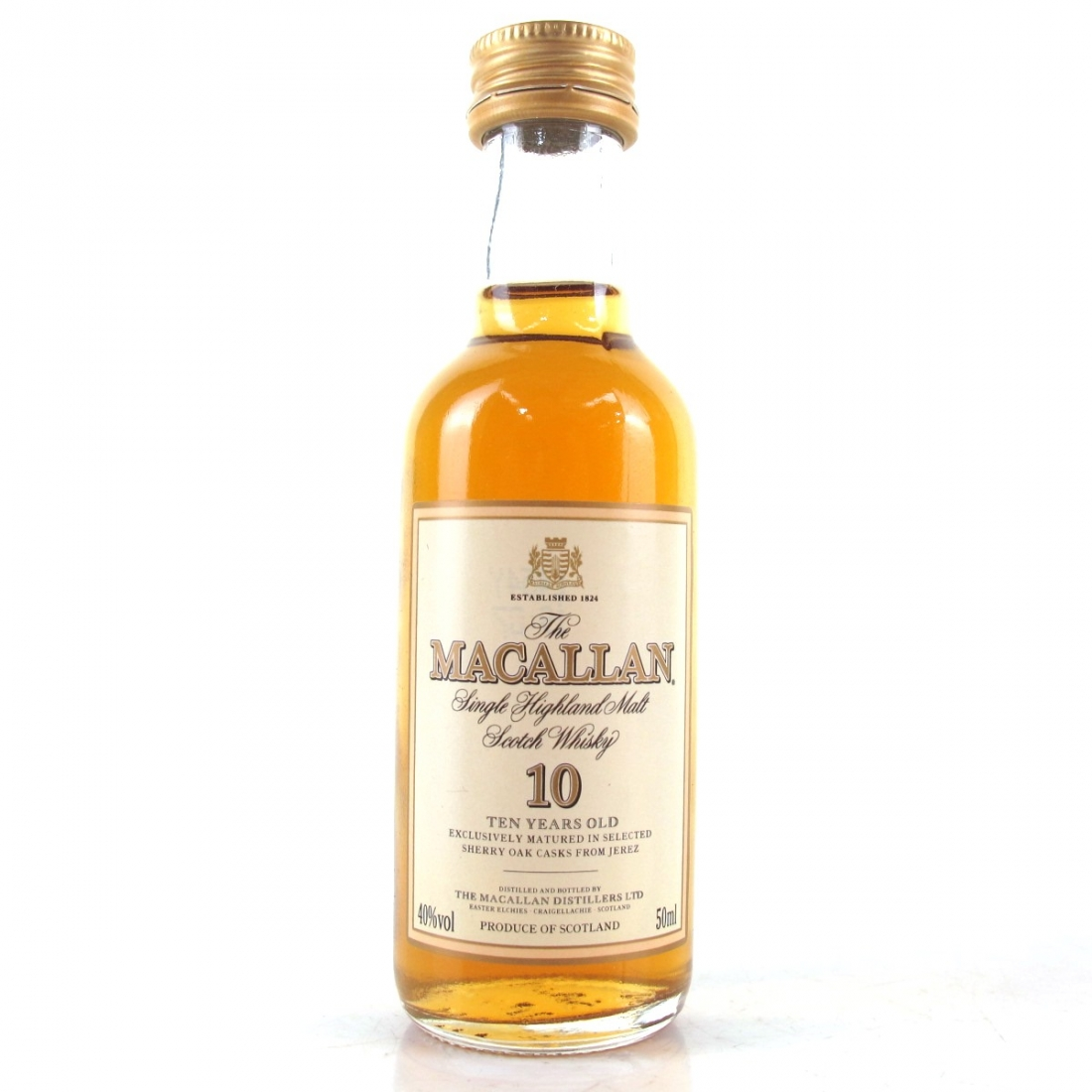 Macallan 10 Year Old Miniature 5cl / A Study of Albanian Shopping Malls
