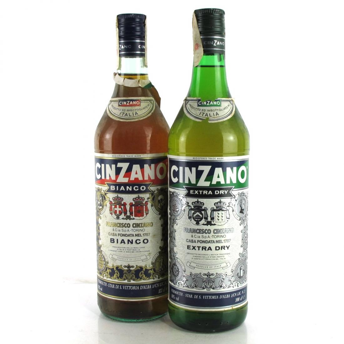 Cinzano Bianco & Extra Dry Vermouth 2 x 1 Litre 1980s