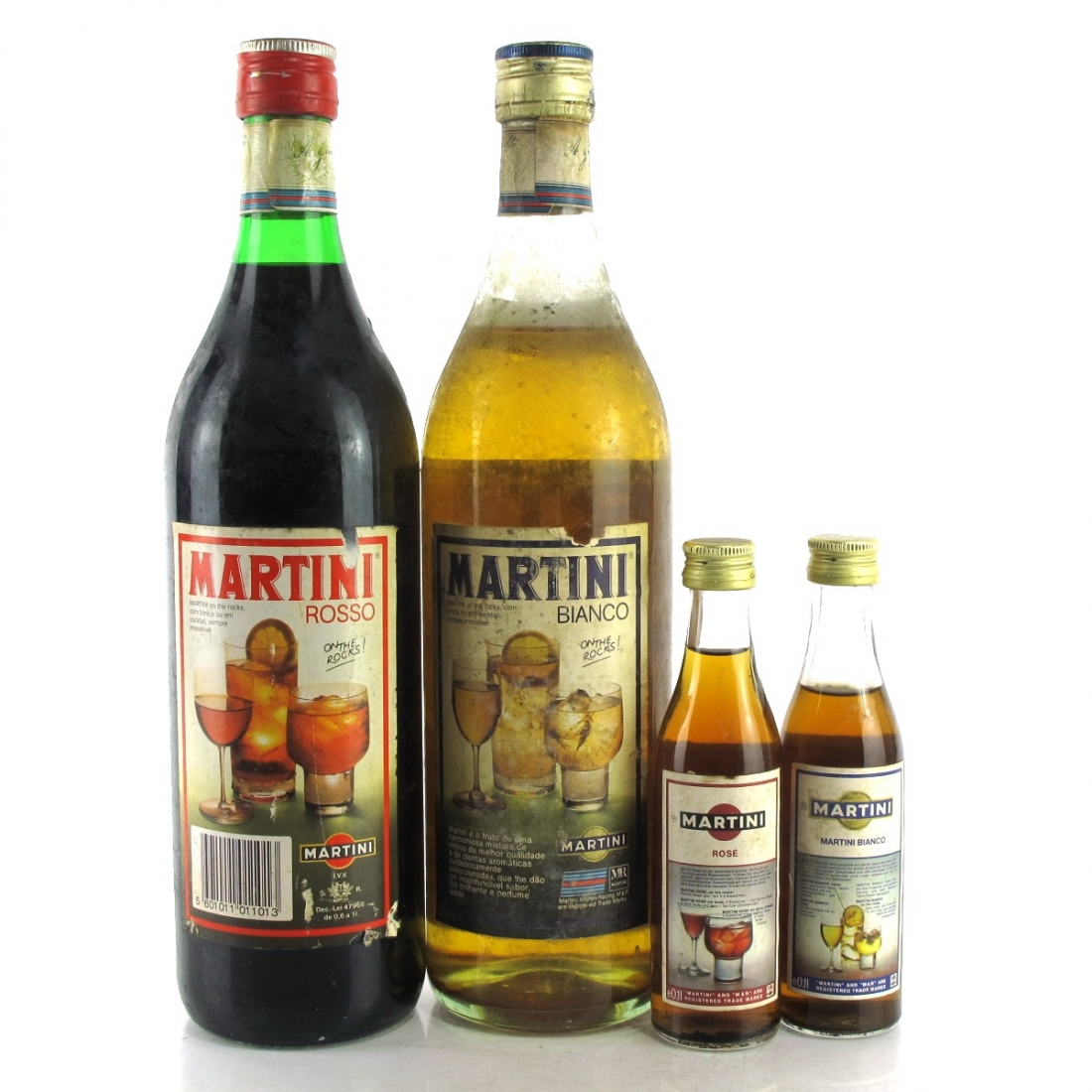 Martini Bianco & Rosso Vermouth 2 x 1 Litre 1980s / with 2 x 10cl