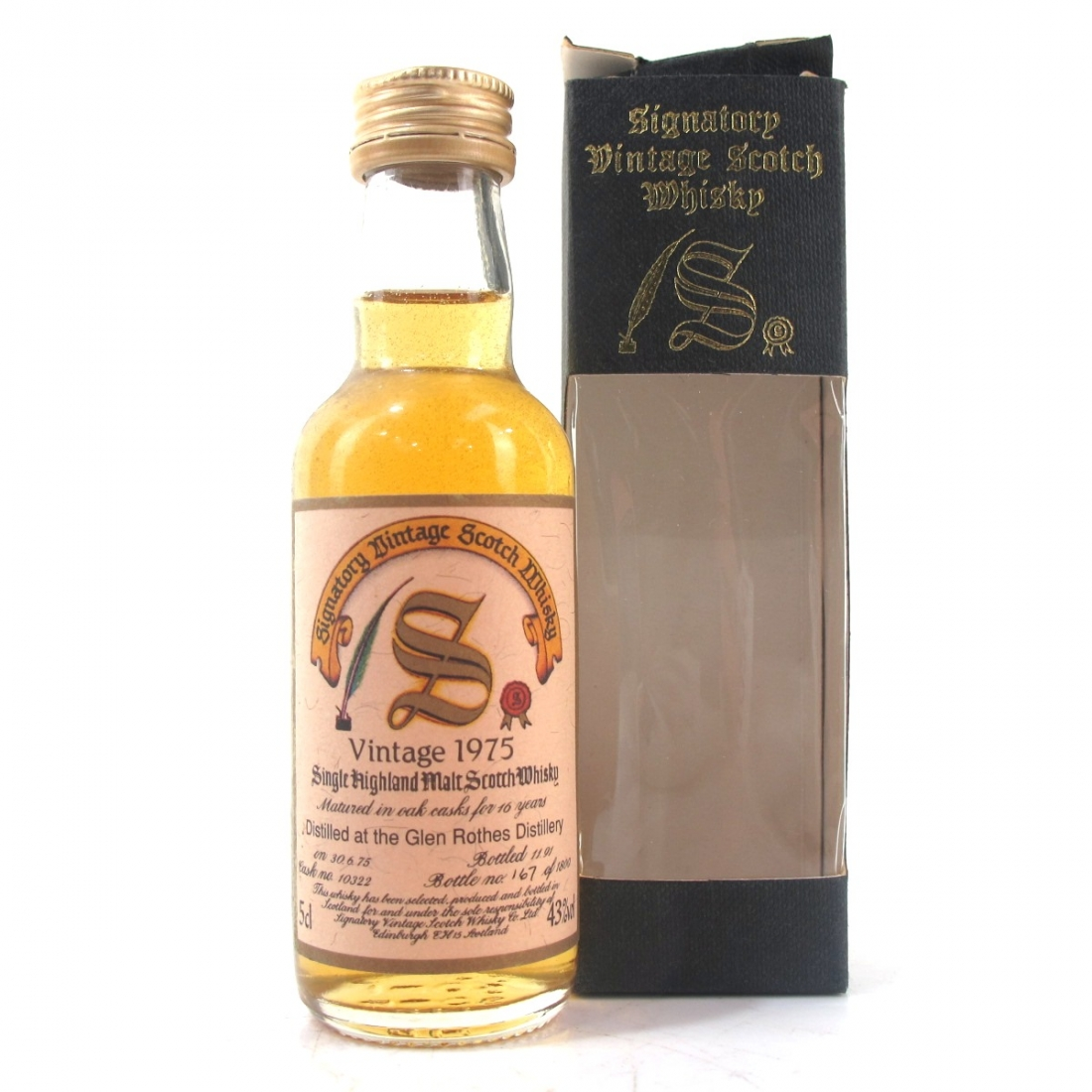 Glenrothes 1975 Signatory Vintage 16 Year Old Miniature 5cl