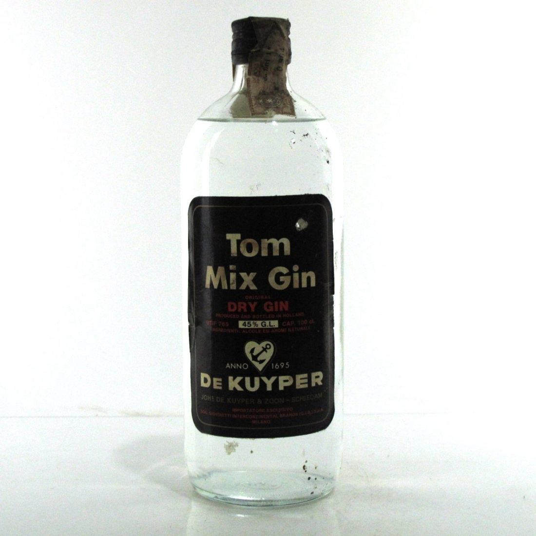 Tom Mix Dry Gin 1970s 1 Litre