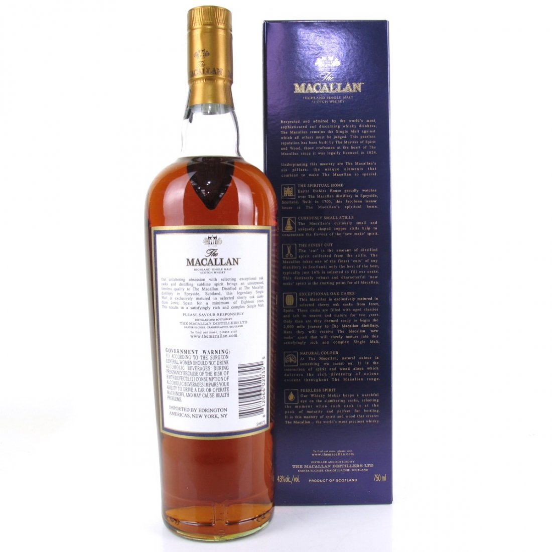 Macallan 18 Year Old 2017 Release 75cl / US Import