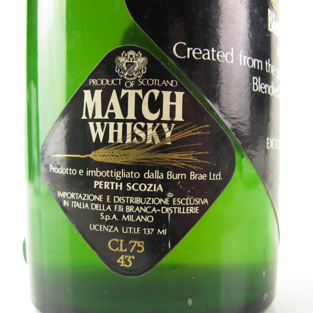 Match Whisky 8 Year Old 1970s